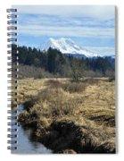 Ohop Valley View Of Rainier Spiral Notebook
