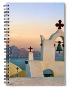 Oia In Santorini Spiral Notebook