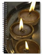 Oil Lamps Kept In A Plate As Part Of Diwali Celebrations Spiral Notebook