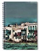 Oill Paint Effect Mykonos Greece Spiral Notebook