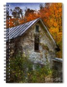 Old Abandoned House In Fall Spiral Notebook