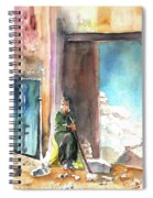 Old And Lonely In Morocco 02 Spiral Notebook
