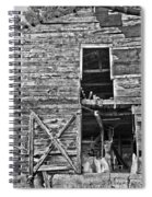 Old Barn Door In Black And White Spiral Notebook
