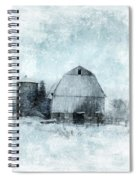 Old Barn In Winter Snow Spiral Notebook