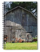 Old Barn South Of Brevard Spiral Notebook