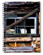 Old Barn Window 2 Spiral Notebook