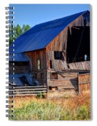 Old Barn With Concrete Grain Silo - Utah Spiral Notebook