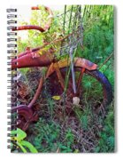 Old Bike And Weeds Spiral Notebook