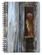 Old Blue Door 1 Spiral Notebook