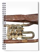 Old Broken Trumpet - Isolated Spiral Notebook