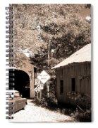 Old Car Older Barn Oldest Bridge Spiral Notebook