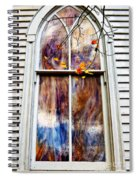Old Carpenter Gothic Style Church Window In Wv Fall Spiral Notebook