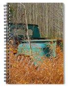 Old Chevy In The Field Spiral Notebook