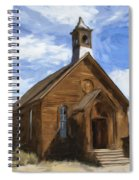 Old Church At Bodie Spiral Notebook