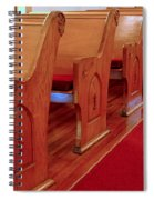 Old Church Pews Spiral Notebook