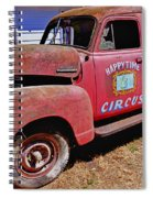 Old Circus Truck Spiral Notebook