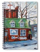 Old Corner Store Montreal By Prankearts Spiral Notebook