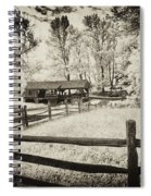 Old Country Saw-mill - Toned Spiral Notebook