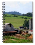 Old Dairy Barn Spiral Notebook