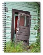 Old Door On Rustic Alaska Cabin Spiral Notebook