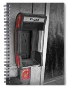 Old Empty Phone Booth Spiral Notebook