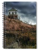 Old Farmhouse With Stormy Sky Spiral Notebook