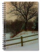 Old Fashiion Winter Spiral Notebook