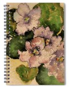 Old-fashioned African Violets Spiral Notebook