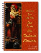 Old Fashioned Santa Christmas Card Spiral Notebook