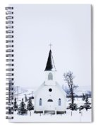 Old Fashioned Steeple Church In Winter Spiral Notebook