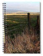 Old Fence And Landscape At Point Reyes California . 7d9968 Spiral Notebook
