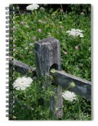 Old Fence And Wildflowers Spiral Notebook