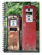 Old Gas Station Pumps Spiral Notebook