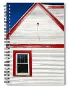 Old Gas Station Siding Spiral Notebook