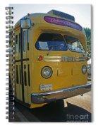 Old Gm Bus Spiral Notebook