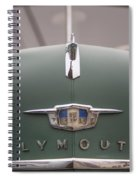 Old Green Plymouth Spiral Notebook