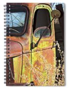 Old Green Truck Door Spiral Notebook