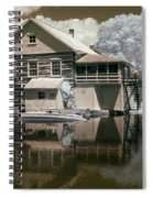 Old Grist Mill In Infrared Spiral Notebook
