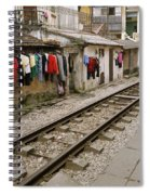 Old Hanoi By The Tracks Spiral Notebook