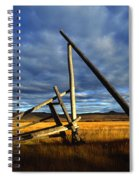 Old Homestead Near Pelly Crossing Spiral Notebook