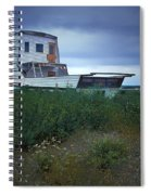 Old Houseboat On A Minnesota Shore On Lake Superior Spiral Notebook