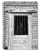 Old Jailhouse Door In Black And White Spiral Notebook