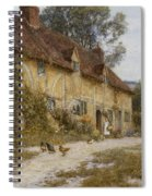 Old Kentish Cottage Spiral Notebook