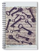 Old Keys On Sheet Music Spiral Notebook