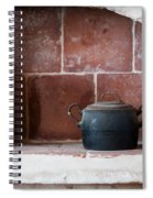 old kitchen - A part of a traditional kitchen with a vintage metal pot  Spiral Notebook