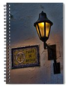 Old Lamp On A Colonial Building In Old Cartagena Colombia Spiral Notebook