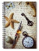 Old Letter With Pen And Starfish Spiral Notebook