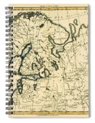 Old Map Of Northern Europe Spiral Notebook