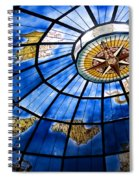 Old Map Of The Canary Islands Spiral Notebook