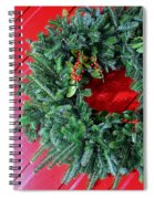 Old Mill Of Guilford Door Wreath Spiral Notebook